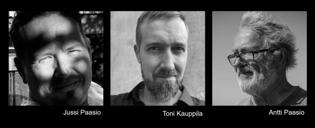 Arkkitehtuurin arvon myynti -kouluttajamme Jussi Paasio, Toni Kauppila ja Antti Paasio.